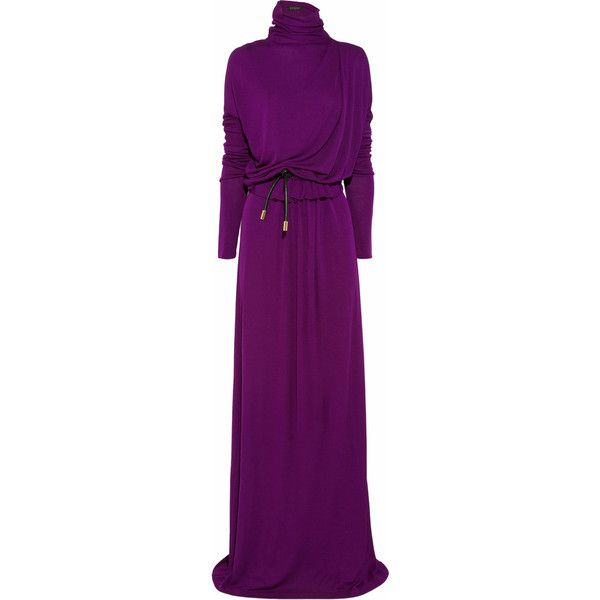 Vionnet Belted jersey turtleneck gown (£581) found on Polyvore