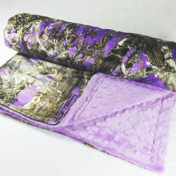 Baby Blanket Purple True Timber Purple by SugarDoodleBoutique