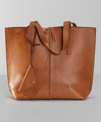 Levi's Crafted Leather Tote Bag - Camel - Bags