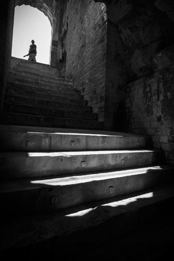 Canon Professional Network - Don McCullin Feature: View of Staircase within the Arena (Roma arena) in Nimes, France