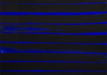 Ultramarines series, 70 x 100 cm, ink on canvas, 2017