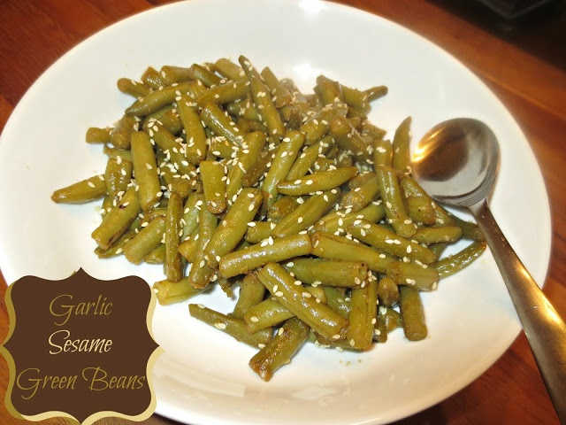 Garlic Sesame Green Beans   Yummies   Pinterest