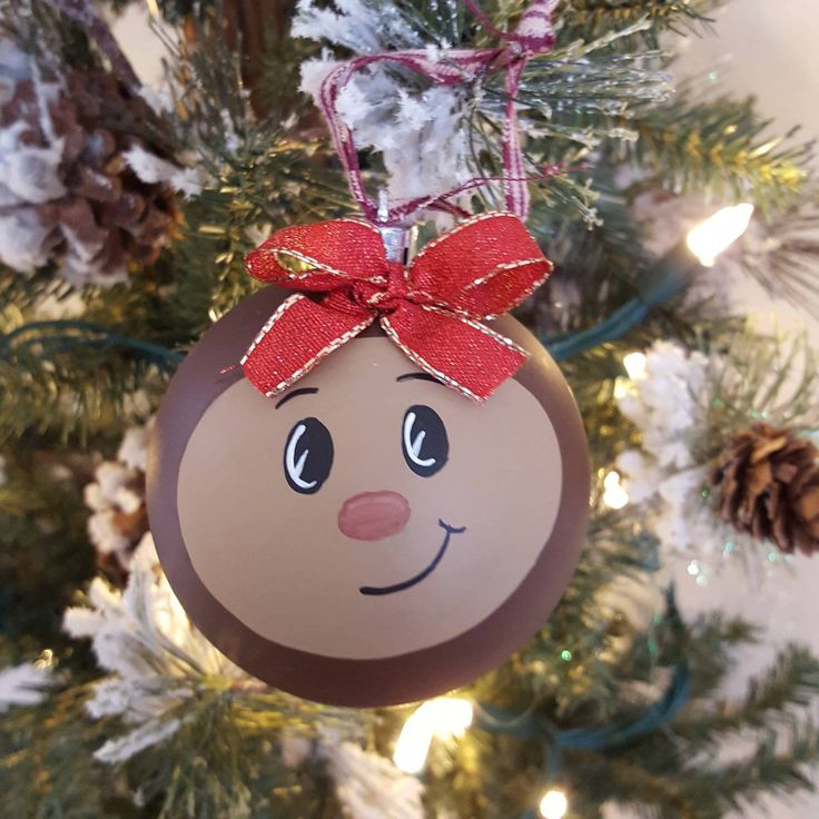 A personal favorite from my Etsy shop https://www.etsy.com/listing/114465348/ohio-state-buckeye-christmas-ornament