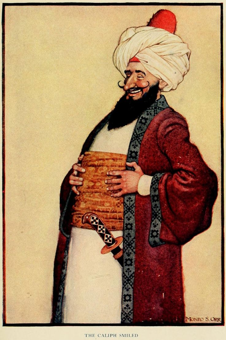 The Arabian nights (1913) Illustrations by Monro S. Orr, _The Caliph Smiled.