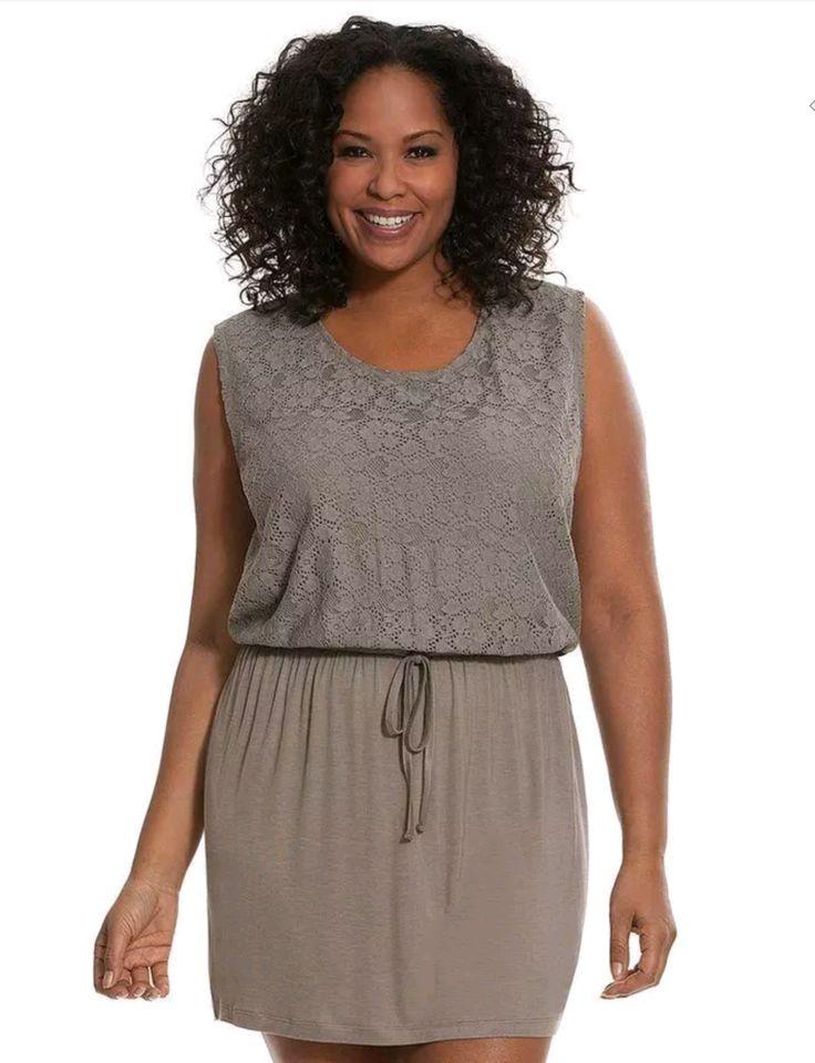 Cacique Tru To You Lace Overlay Sleepwear Sleep Dress 22/24 26/28