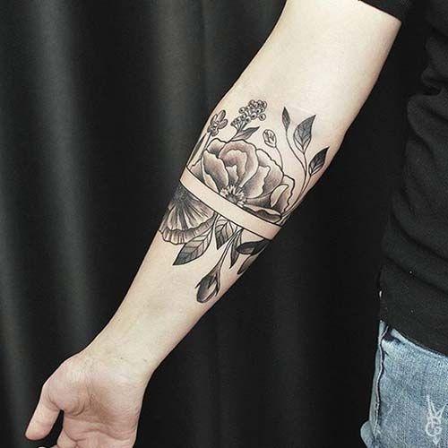 armband tattoo for girls kızlar için kol bandı dövmesi