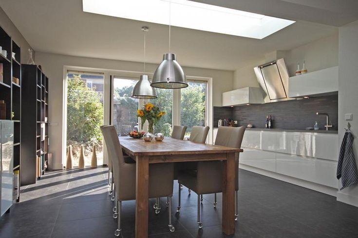 Afbeeldingsresultaat voor aanbouw keuken lichtkoepels