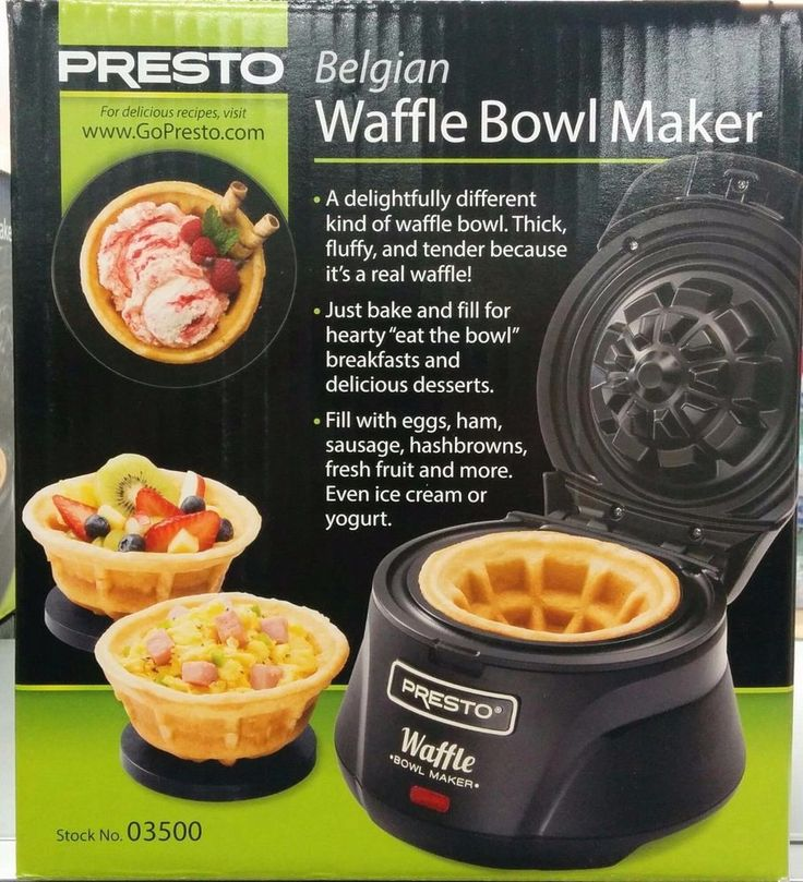 NEW Belgian Waffle Bowl Maker  Presto Makes 4 inch Waffle Bowls FREE SHIPPING  #Presto