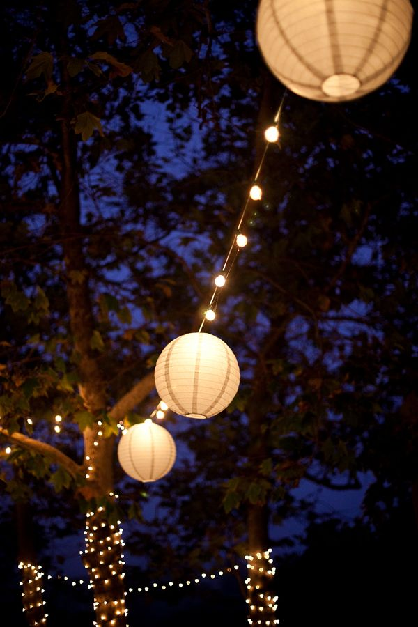 this would be pretty for an outdoor reception on a warm summer night :)