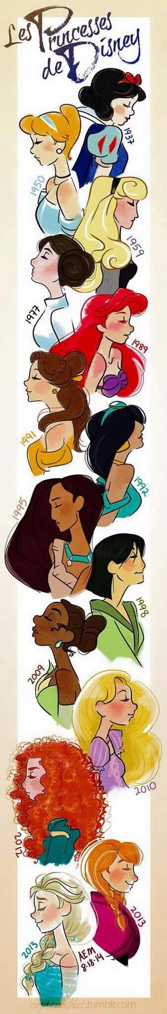"Principesse Disney più ""l'intrusa"" principessa Leila.."