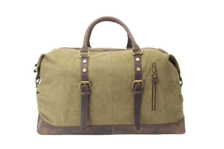 Bags : Handcrafted Waxed Canvas and Leather Weekender Bag
