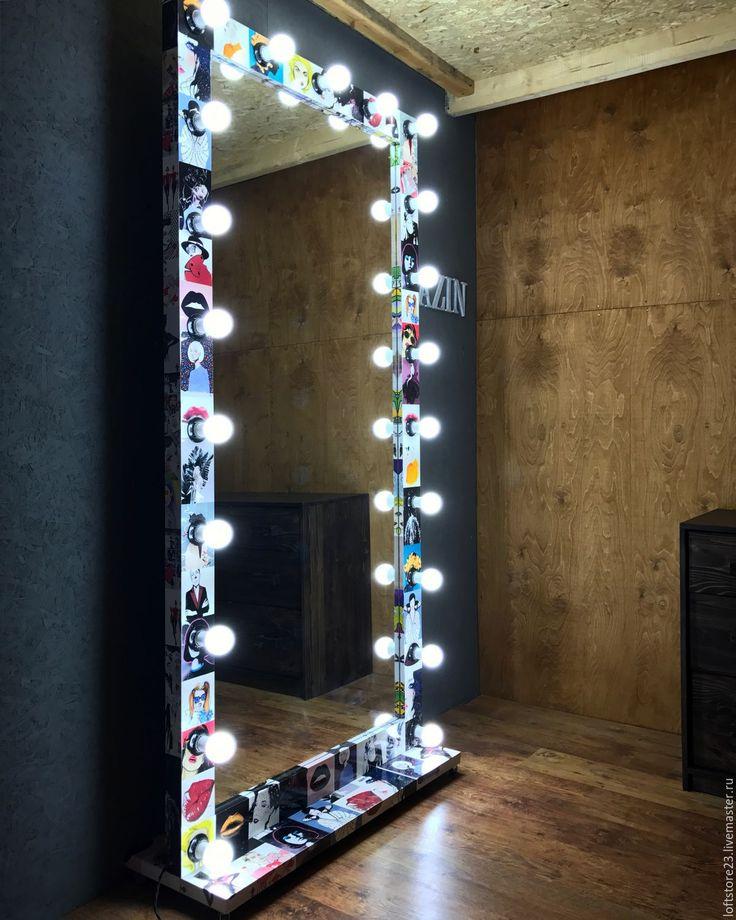 Купить Зеркало напольное POP-ART. - комбинированный, Поп Арт, стиль поп арт, зеркало