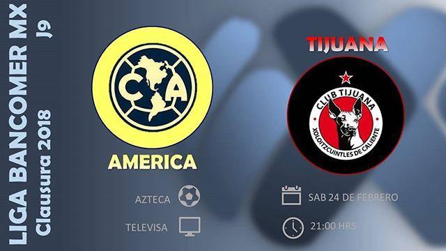 El equipo de Club América recibe en la cancha del Estadio Azteca (Ciudad de México (D.F.)) a Tijuana en partido de <a href='https://tv.futboladiccion.com/liga-mx/'>Liga MX</a>. Debido al juego que corresponde a la jornada 9, la transmisión de América vs Xolos en Vivo Online será por medio de Univision USA. En unos instantes descubre a que hora juega Club América y otros detalles.