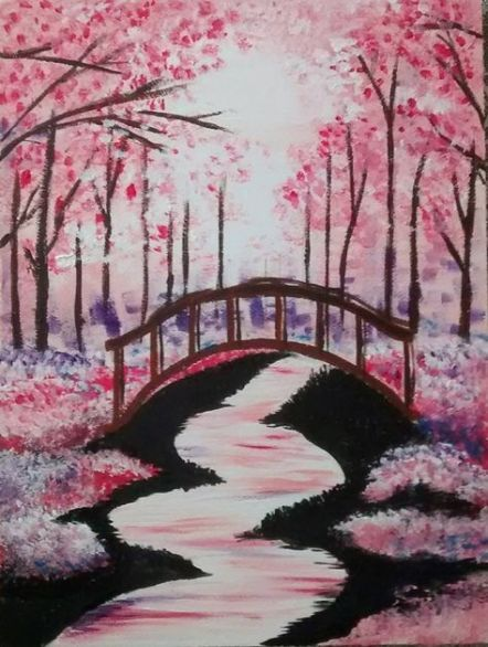 Trendy Painting Flower Wallpaper Cherry Blossoms Ideas