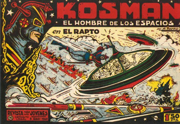 """LOS VIERNES TEBEOS """"El rapto"""" de la serie """"Kosman"""" Kosman es el único superviviente de la destruida ciudad de Cira en el planeta Alcurnia. Realiza un juramento ante su rey moribundo, en el que se compromete a consagrar su vida al servicio de la justicia y la paz del universo. En su camino contará con varios amigos como el profesor Jarko, Alí y Maribel."""