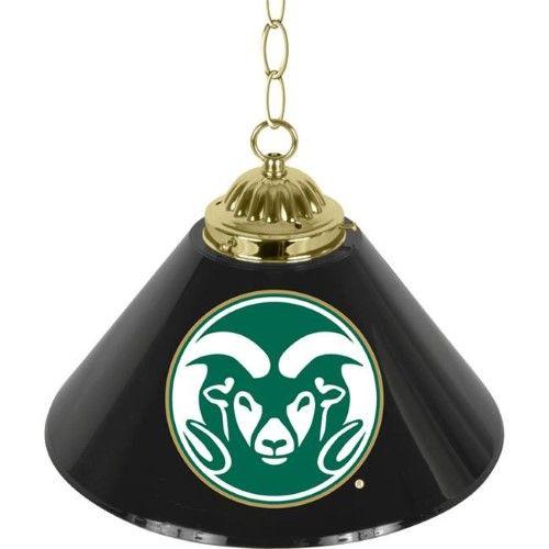 Trademark Poker CLC1200-Cost Colorado State UniversityT Single Shade Bar Lamp - 14 inch, As Shown