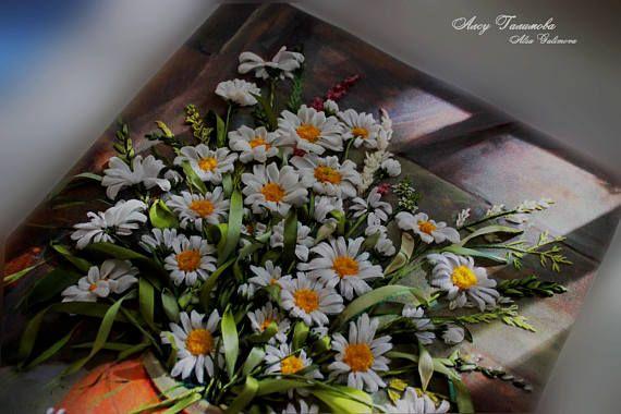 Textile Wall Decor wild flowers bouquet Floral still life Wild