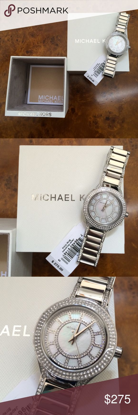 Michael Kors Diamond Silver Watch New With Tags Missing Cushion To Stuff Through Watch  Bling, bling! Michael Kors Accessories Watches