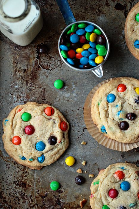 Giant Chocolate Chip cookies are loaded with M&M's and baked to perfection.