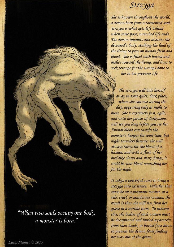 striga, strzyga, beast, slavic, slavic mythology, slavic folklore, concept art, creature design,  http://www.facebook.com/lucasstaniecart https://www.facebook.com/SlavicBeasts/