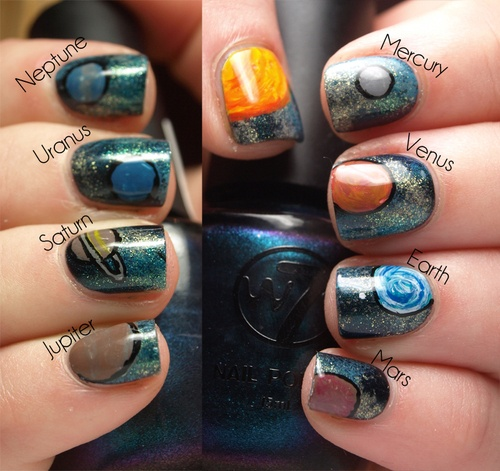 solar system nails? if i could do this, dad would be sooo proud.