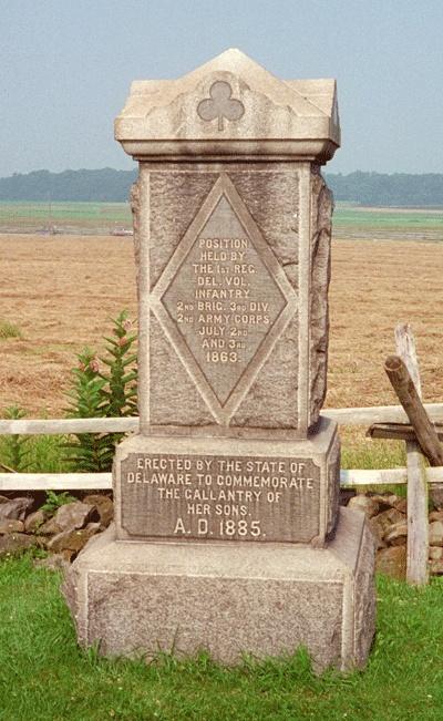 1st Delaware Infantry Regiment  Gettysburg, PA