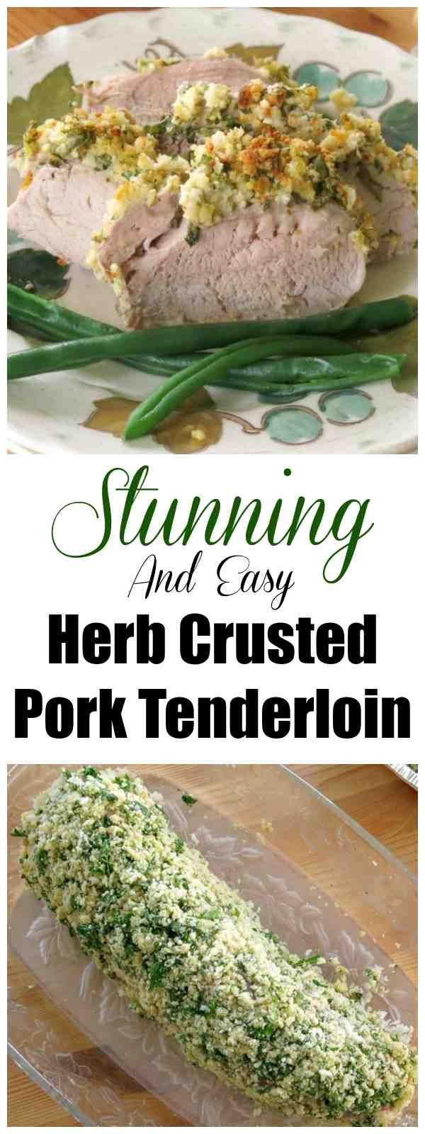 Mustard Herb Crusted Pork Tenderloin Recipe