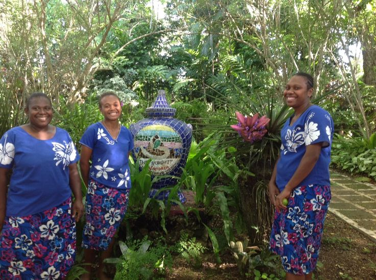 It's not all about sun lounges...you could go and see Mary, Amelia and Nadege, the lovely Garden Tour Guides at The Summit Vanuatu...  #Vanuatu #BestView #Gardening #HolidayInnResort