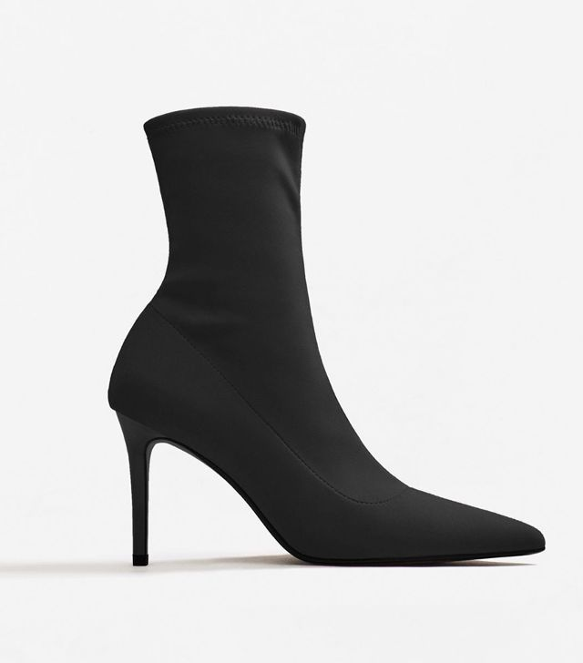 Violeta by Mango Heel Sock Boots