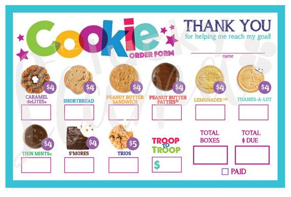 image regarding Girl Scout Cookies Order Form Printable named 2018 Woman Scout Cookie Acquire Kind Printable Woman Scouts