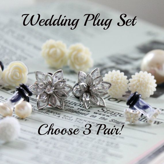 Wedding plug sets for you and your entire wedding party.