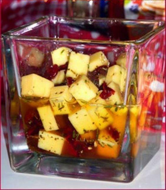 Маринованный сыр к новому году