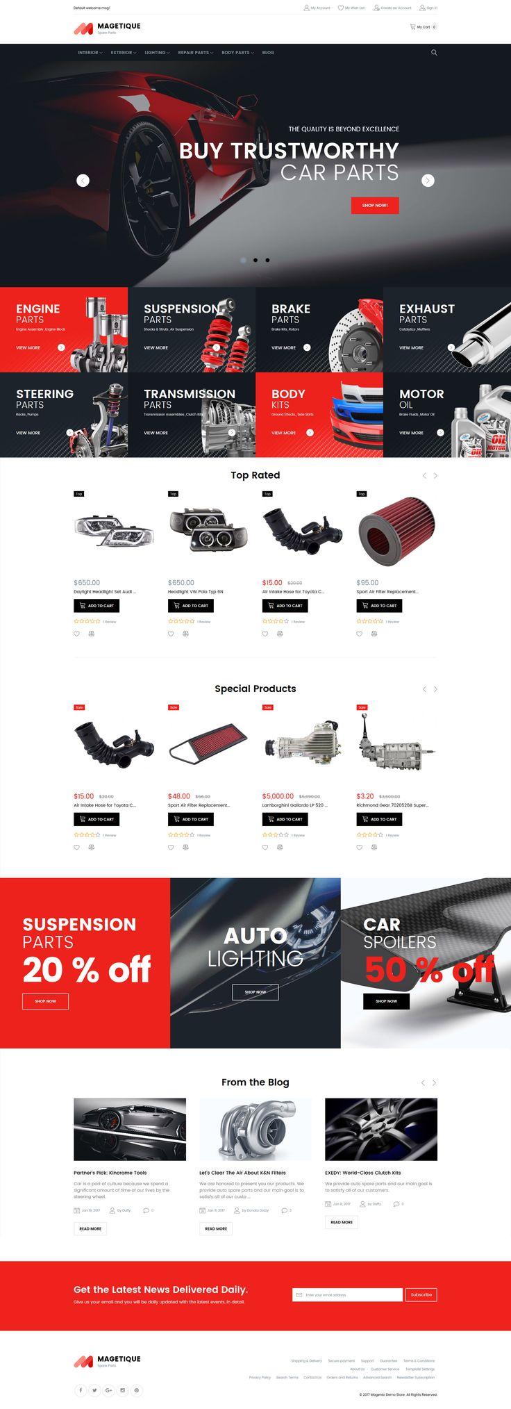 Car Spare Parts #RetinaReady #Magento Theme via @medosadvert by #templatemonster