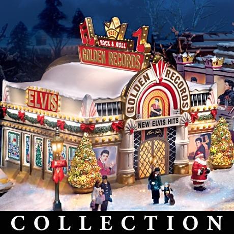 Elvis Christmas Village