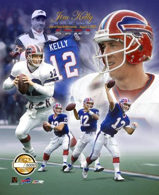Jim Kelly - Buffalo Bills Hall of Fame Quarterback (2002) - He was born in Pittsburgh and grew up about 60 miles away in East Brady.
