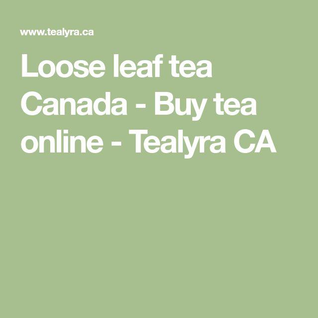 Loose leaf tea Canada - Buy tea online - Tealyra CA