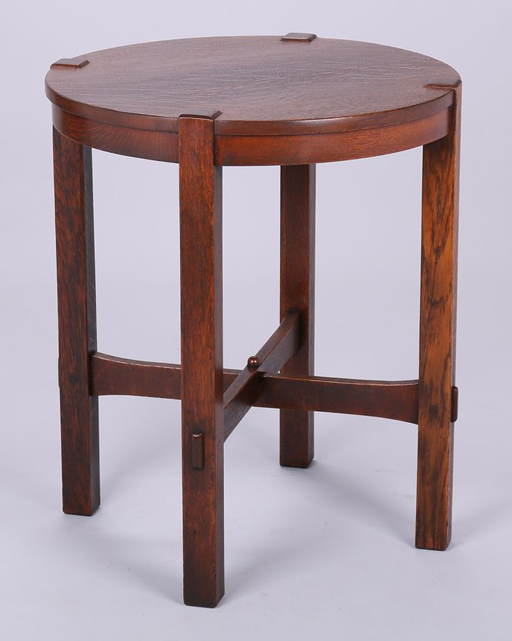 Arts And Crafts Lamp Table By Gustav Stickley