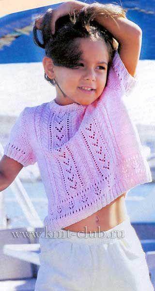 Очаровательная детская кофточка спицами