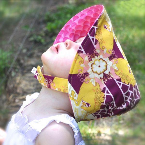 US KIDSWEAR RAKUTENICHIBA TEN | Rakuten Global Market: urban BABY bonnets (UB2) I too fashionable for girls Golden Unicorn & pink petal pattern reversible hat, flower hats, birth celebration, urban baby bonnet