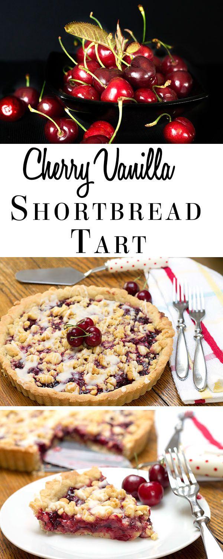 Cherry Vanilla Shortbread Tart - Erren's Kitchen