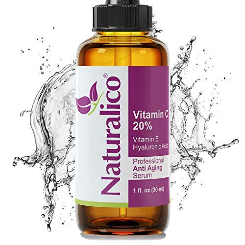 Naturalico Anti Aging Organic 20 Vitamin C Serum for Face with Hyaluronic Acid 1 Oz -- More info could be found at the image url.