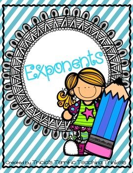 Exponents!  **Newest addition**Interactive foldables for 1-12 squared as well as 1-12 to the third power!Exponent practice...yipee!  This packet contains an opportunity for students to identify base, exponents, expanded notation and standard notation. Two Tic Tac Toe game boards, an exponent puzzle and a color by code sheet for fun practice are also included :)
