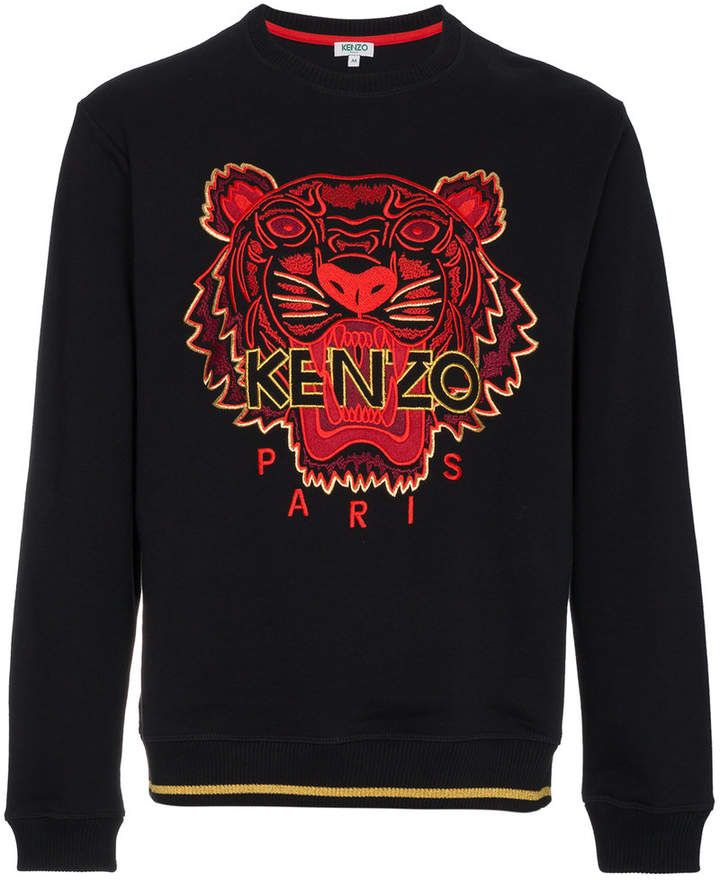 bb29cf25 Kenzo Black CNY Capsule Tiger Sweatshirt | ##Mens Products in 2019 ...