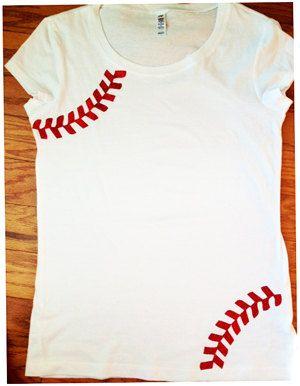 Rhinestone Baseball Mom Shirt - Tee shirt via Etsy