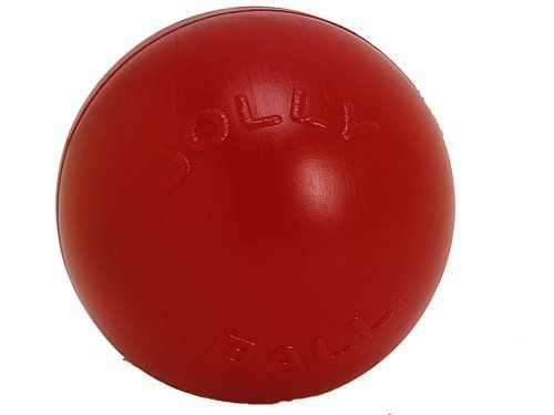 Jolly Pets Push-n-Play Dog Toy, 25 cm, Red