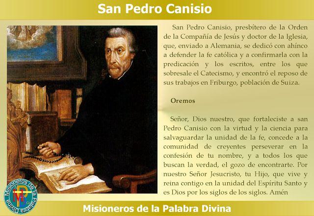 MISIONEROS DE LA PALABRA DIVINA: SANTORAL - SAN PEDRO CANISIO