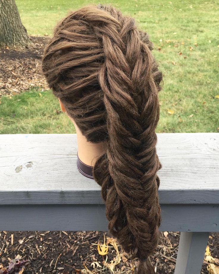 A Dutch split fishtail braid for today! I was originally inspired to do this hai…, #braid #dutch #fishtail #inspired #originally #split #today,'#fas…