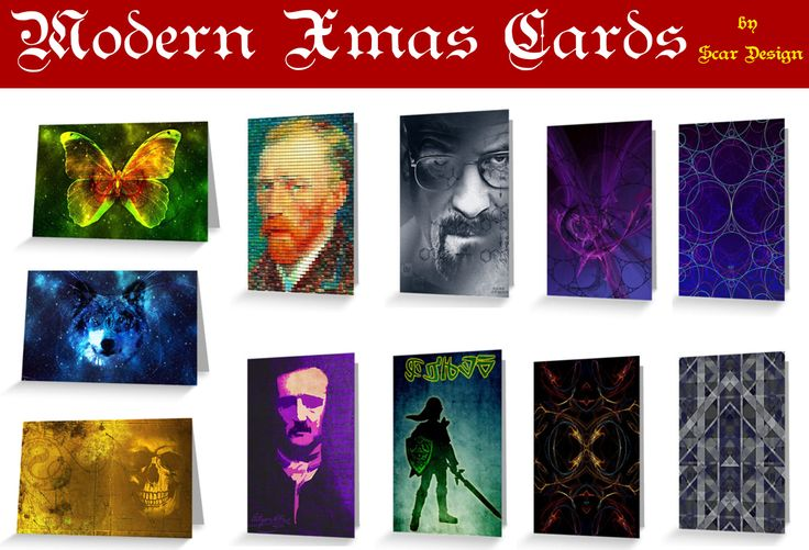 Modern Xmas Cards by Scar Design #XmasCard #vangoghcard #ChristmasCards #buyxmascards #buychristmascards #BreakingBadCard #onlineshopping #giftsforhim #giftsforher #photography #greetingcards #scardesign #redbubble #artist #holidaywishes #wishyoumerrychristmas #happyholidays #merrychristmas #MerryChristmas #Greece  #Thessaloniki #wishes #wishescards #happynewyear #uniquegreetingcards #PoeCard #LegendofZelda #butterflycard #space #scificards #uniquecards #postcards #buypostcards…