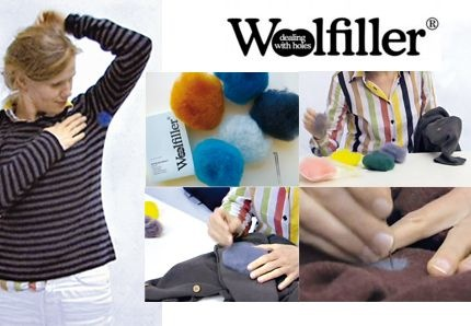 Woolfiller - the easy way to fix the holes in your woollen clothes