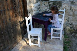 muebles infantiles chalk paint